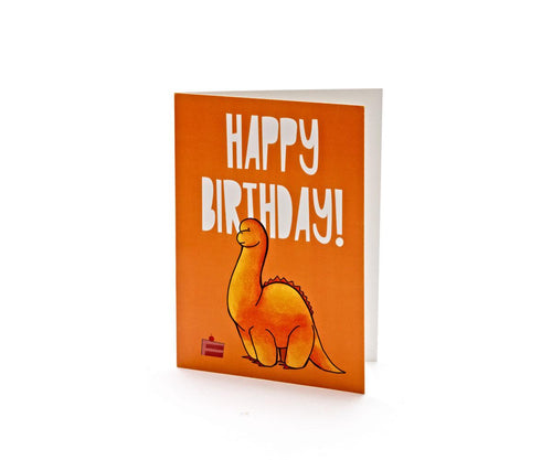 Diplodocus Birthday Card
