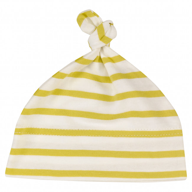 Breton Stripe Knotted Hat in Yellow