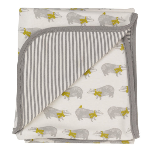 Badger Print Reversible Blanket