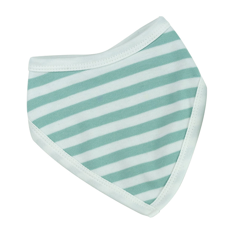 Reversible Broad Striped Bandana Bib - Blue