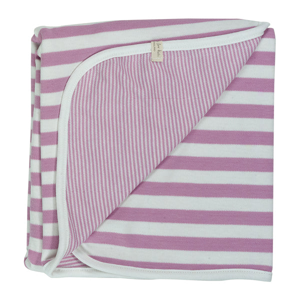 Reversible Broad Striped Blanket - Pink