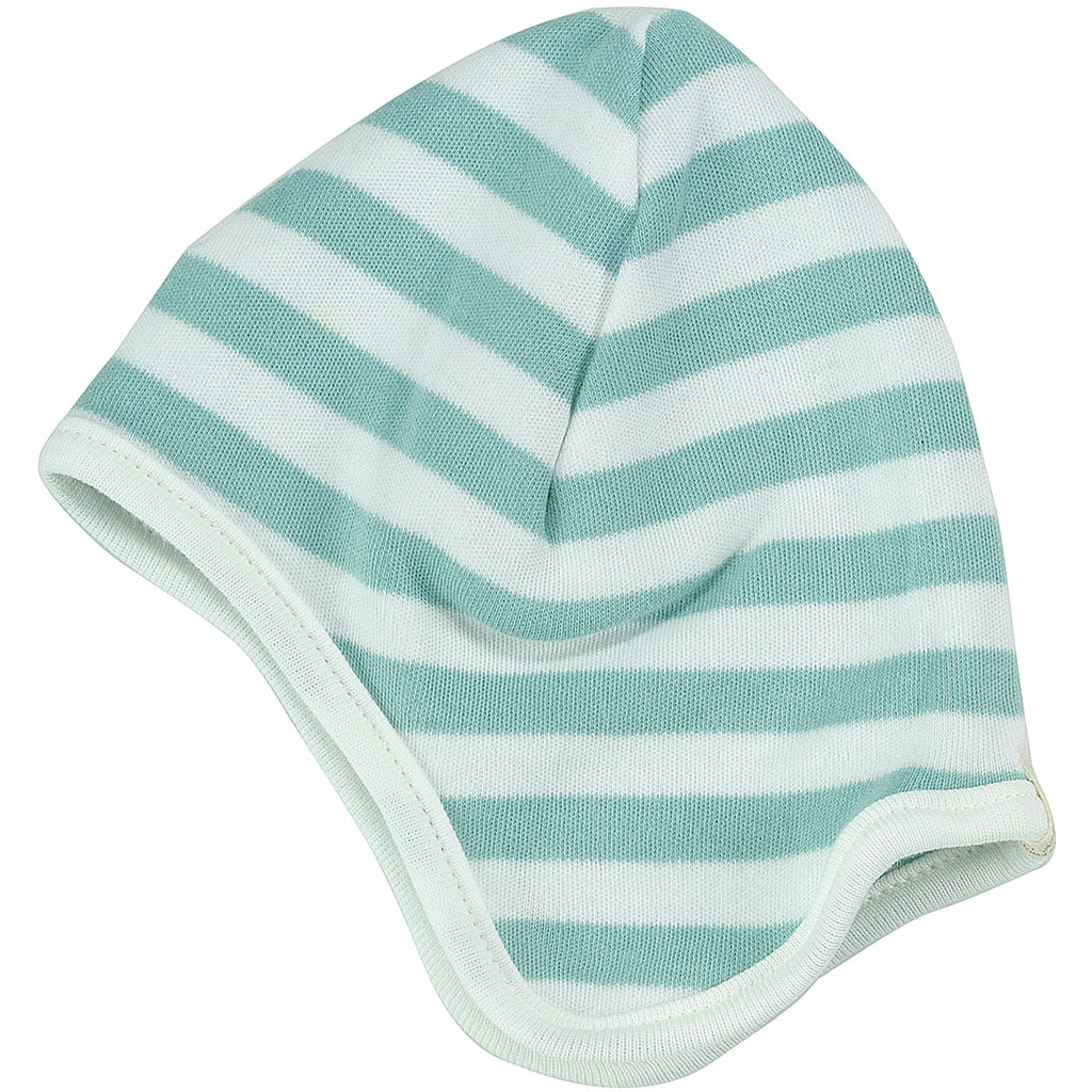 Broad Striped Hat in Blue