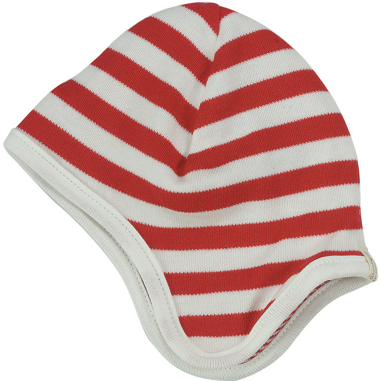 Reversible Broad Striped Hat - Red