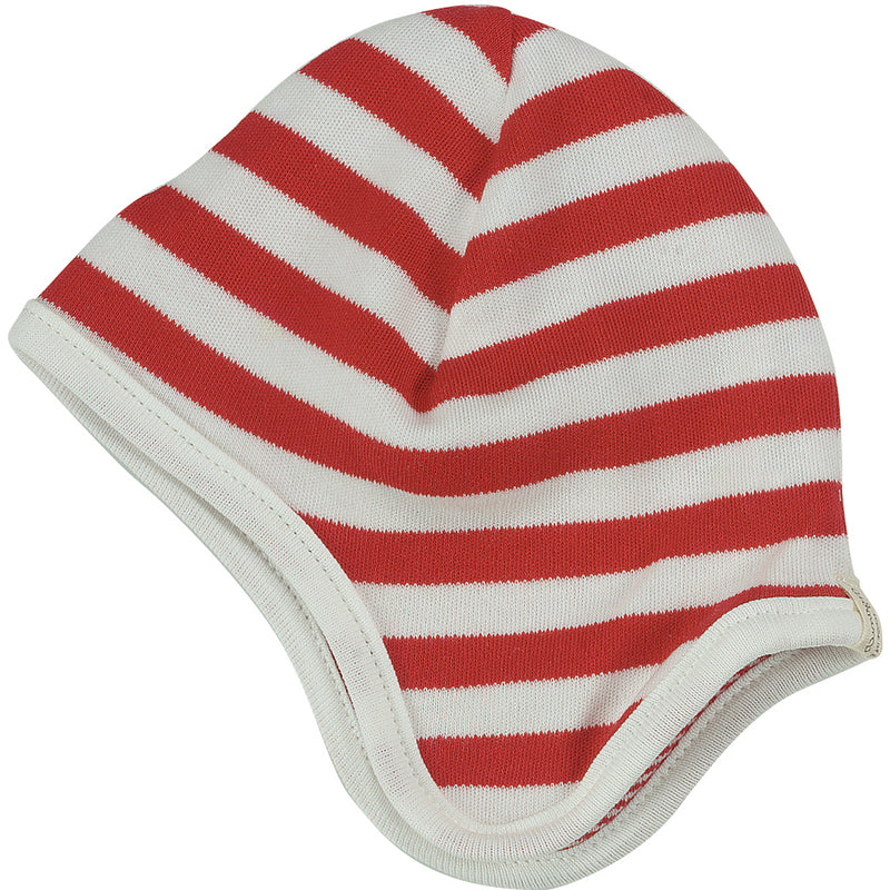 Broad Striped Hat in Red