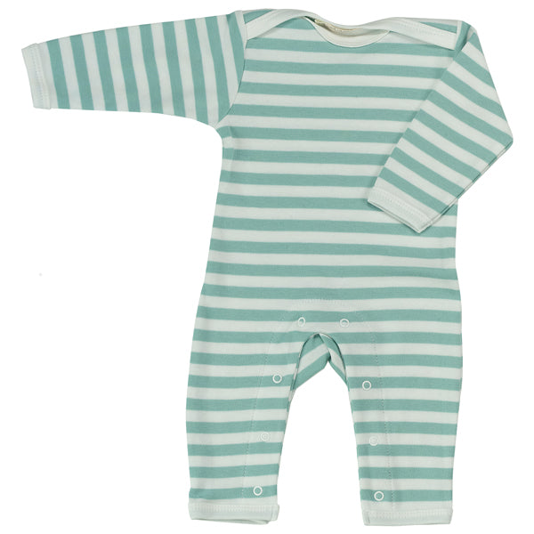 Long Broad Striped Romper - Blue