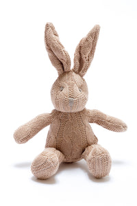 Cable Knit Rabbit Rattle