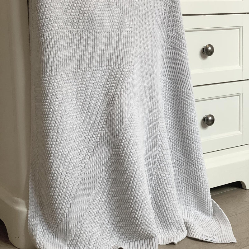Sussex Knitted Organic Cotton Blanket