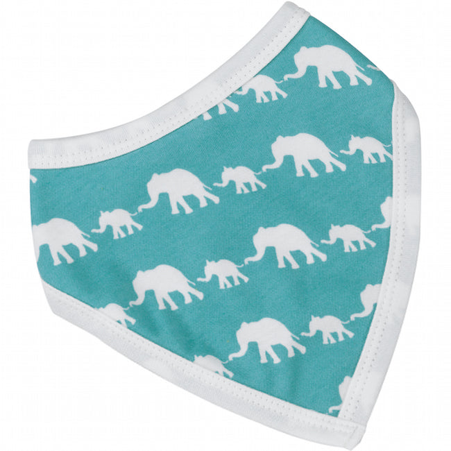 Elephant Bandana Bib in Blue