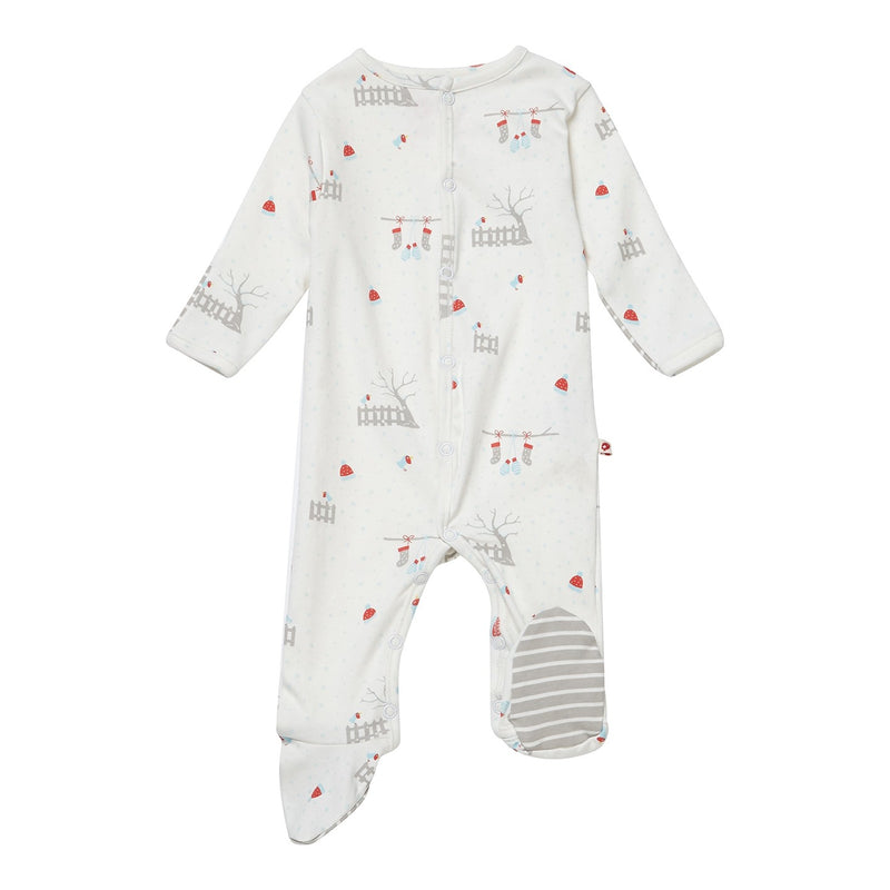 Christmas Robin Footed Sleepsuit