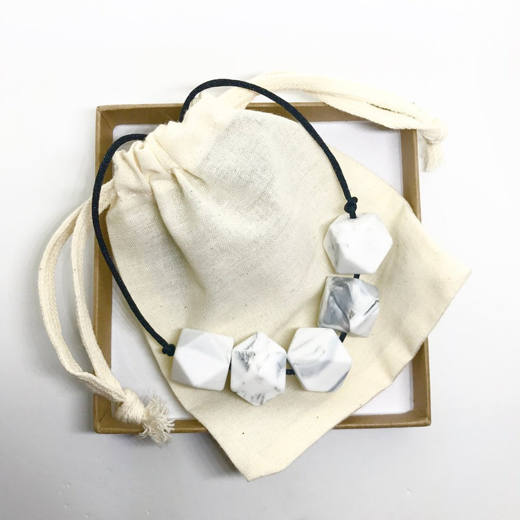 Harriet Teething Necklace - Marble