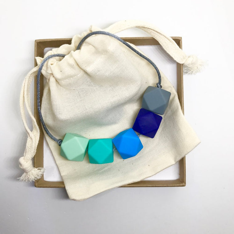 Harriet Teething Necklace - Ocean