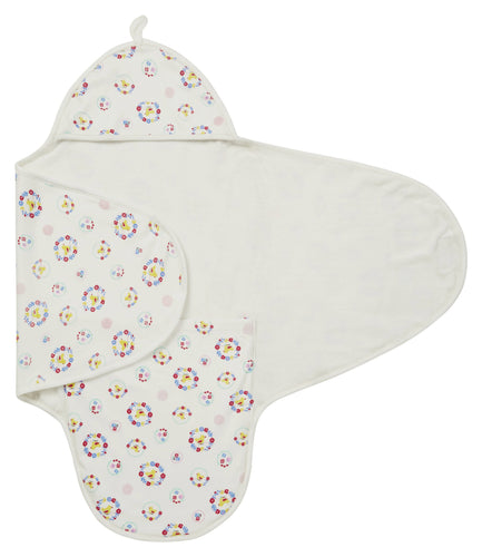 Nursery Floral Cocoon Wrap 2in1