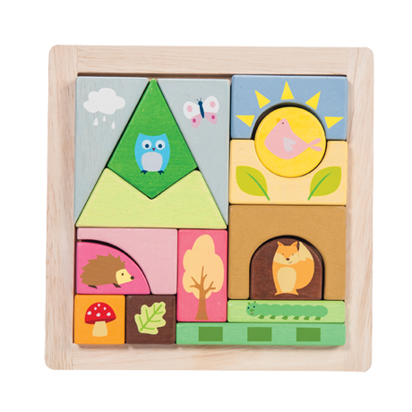 Wooden Woodland Puzzle Blocks