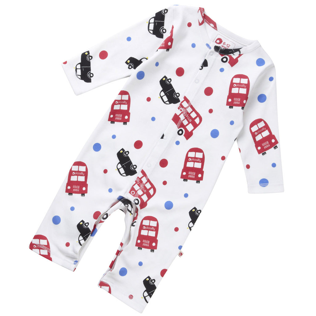 London Bus Playsuit Sleepsuit