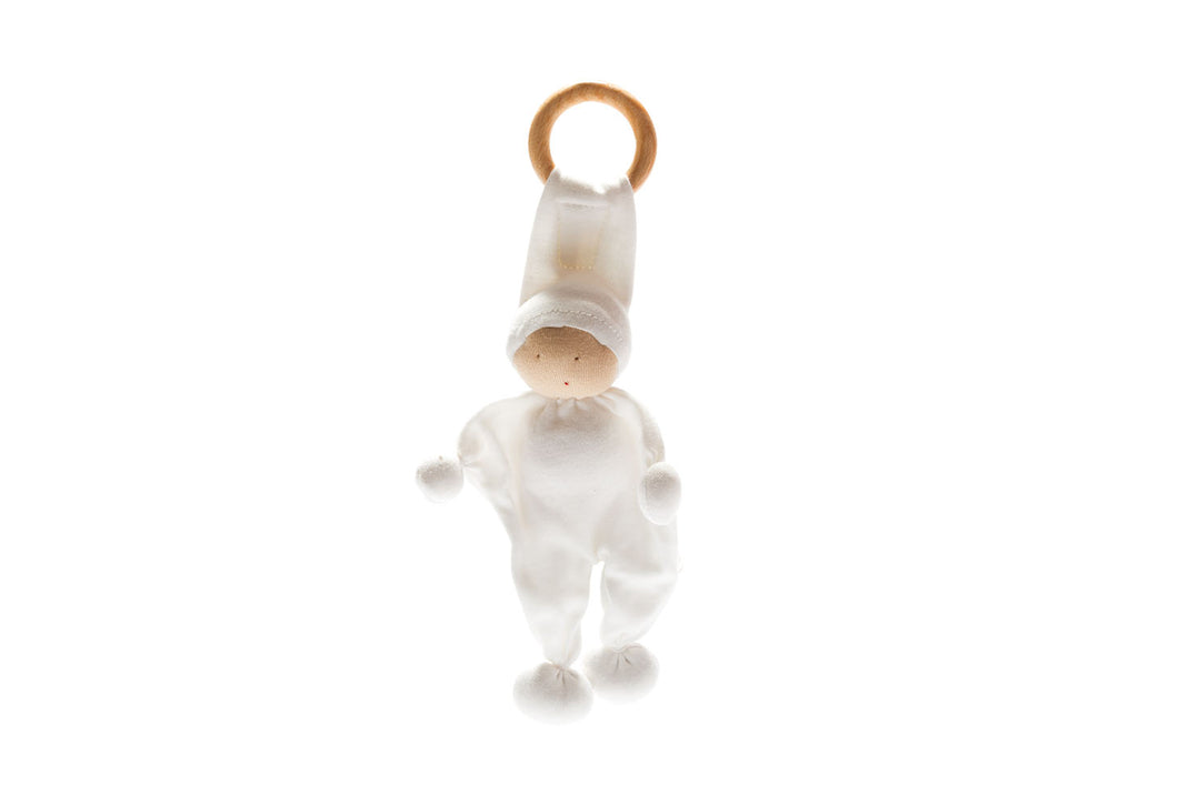 Organic Baby Buddy and Teether - White
