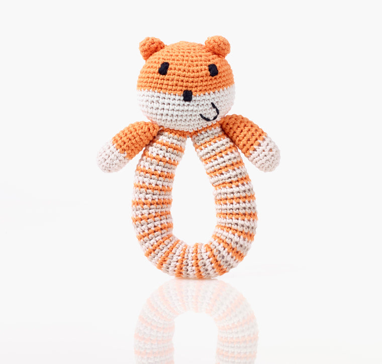 Bear Ring Rattle - Orange