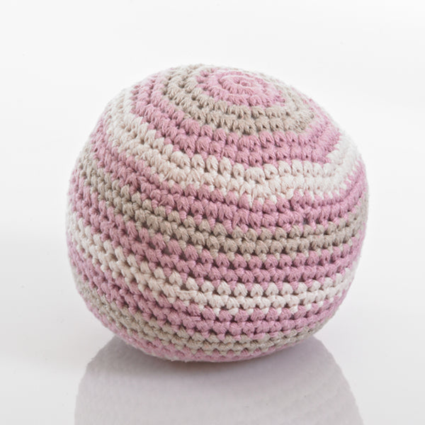 Organic Rattle Ball in Dusky Pink