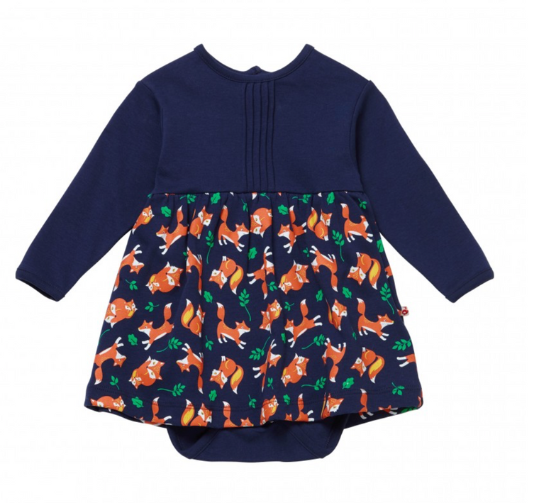 Fox Print Baby Body Dress