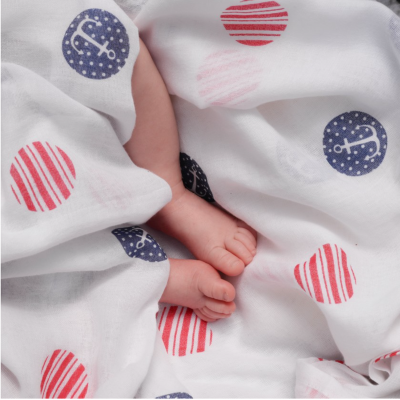 Sailor Spot Organic Large Muslin
