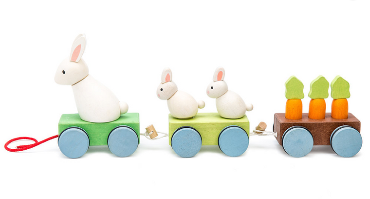 Wooden Bunny Train