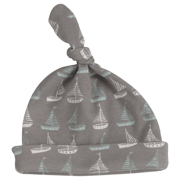 Boat Print Knotted Hat