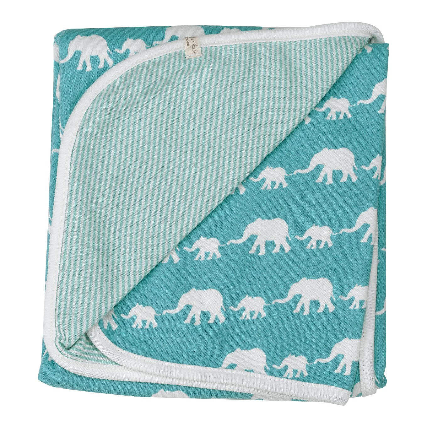 Elephant Blanket in Blue