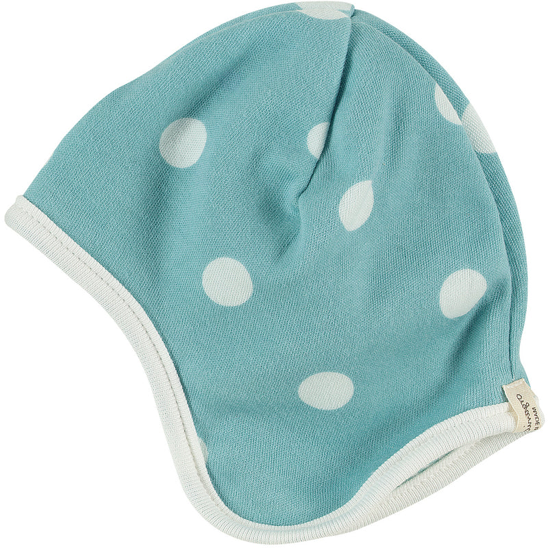 Spotty hat in blue