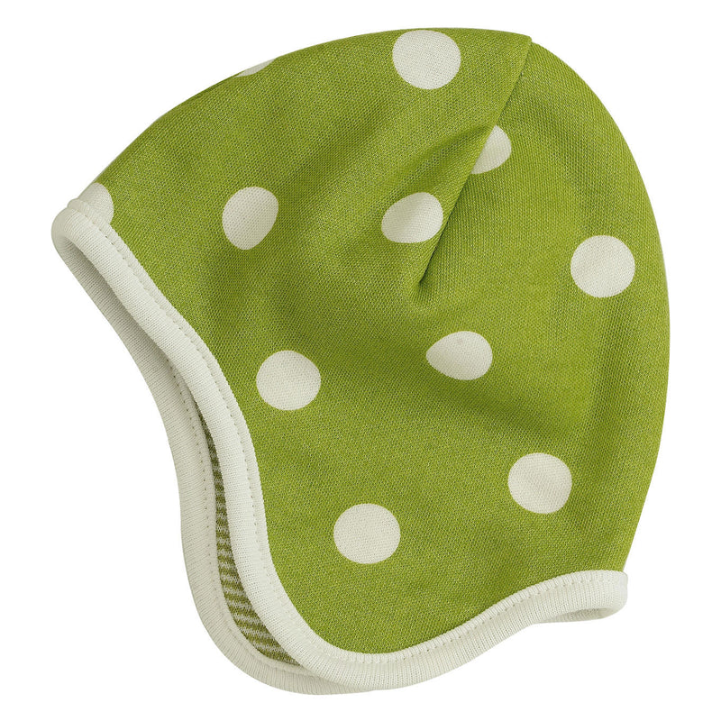 Reversible Spotty Hat - Green