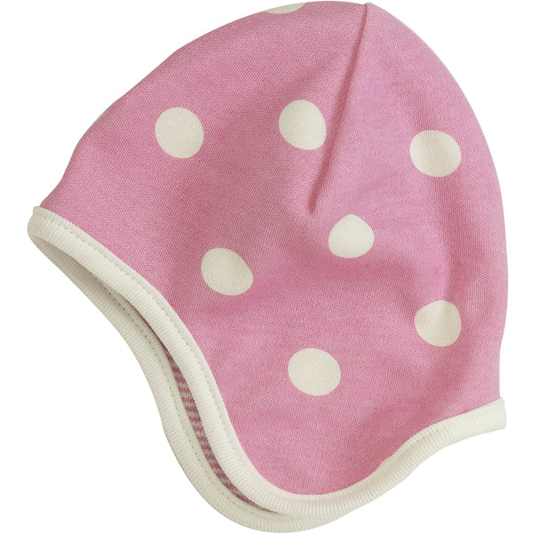 Spotty hat in pink