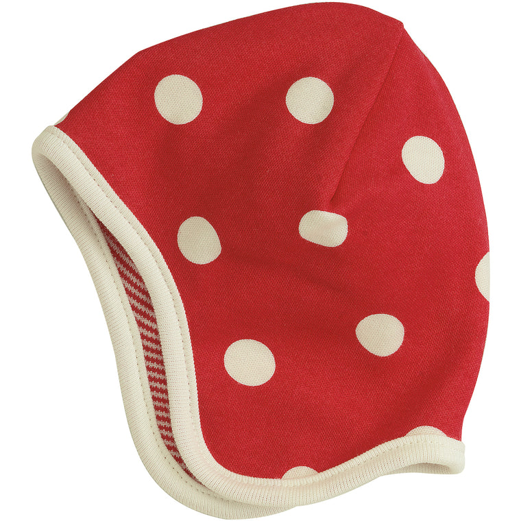 Reversible Spotty Hat - Red