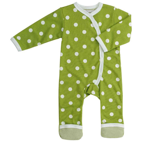 Long Spotty Romper - Green