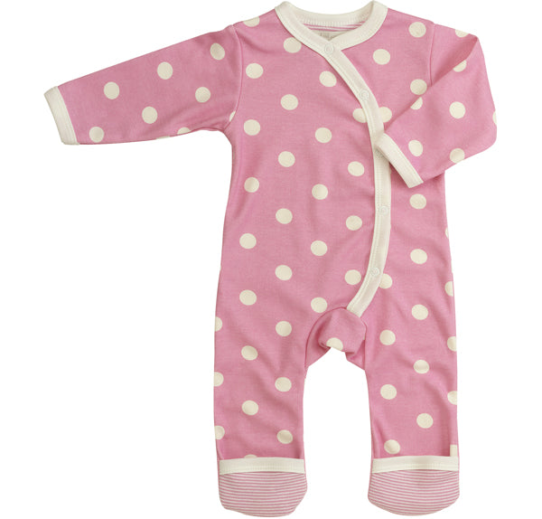 Long Spotty Romper - Pink