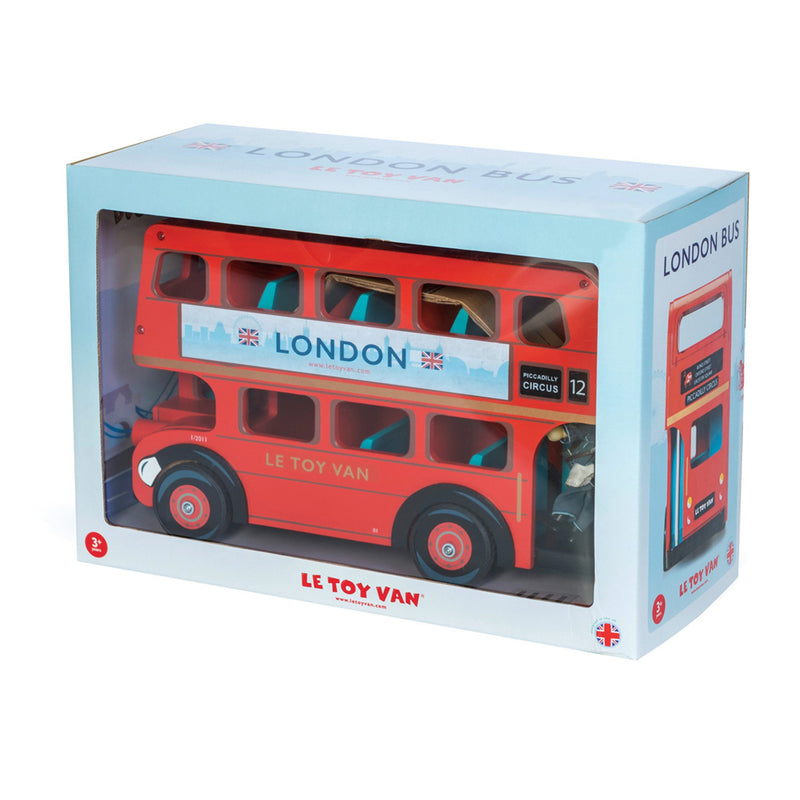 Wooden London Bus with Driver