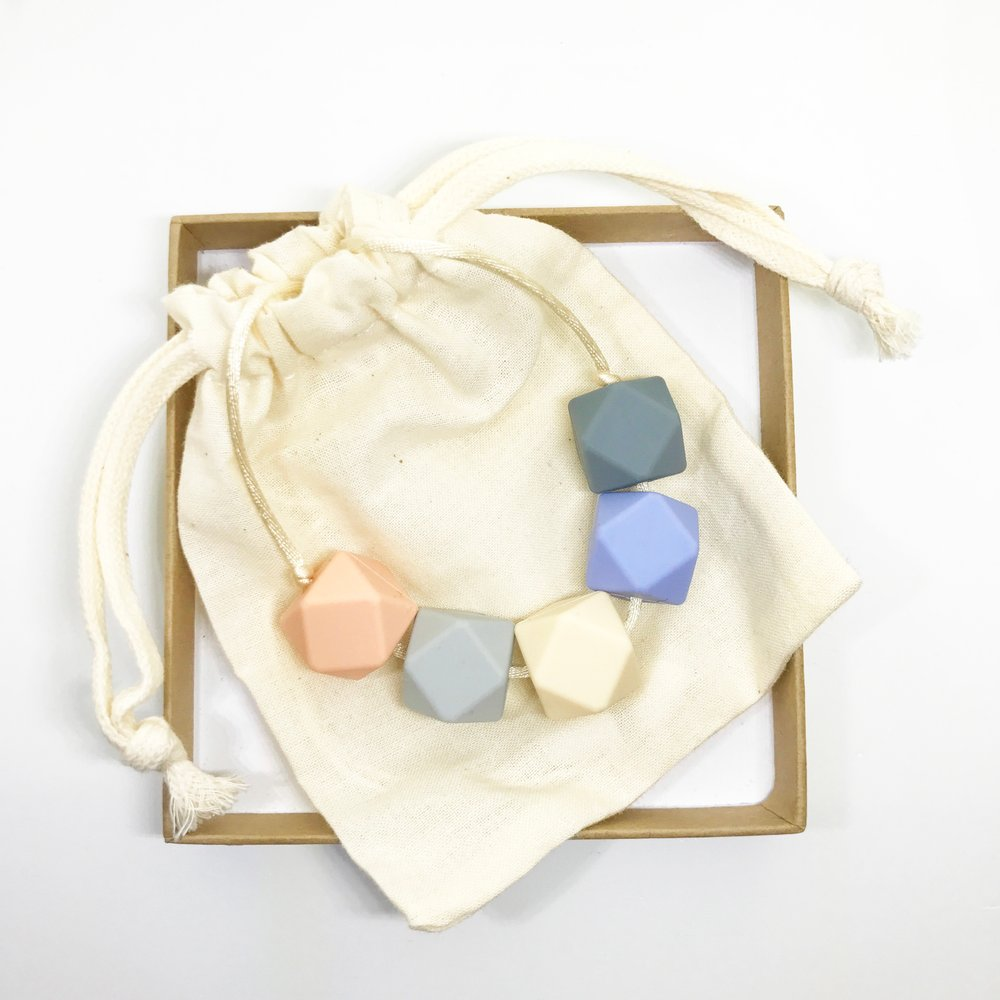 Harriet Teething Necklace - Coast