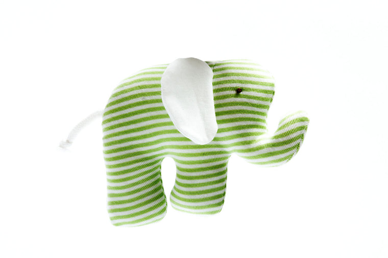 Organic Scrappy Elephant - Green Stripe