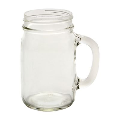Bare Life Official | Glass Mason Jar Mug, Green Lid & Sticker