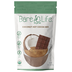 Instant Dairy Free Coconut Hot Cocoa Mix  |  10 Serving Pouch | Gluten Free, Vegan and Organic (Case of 12)
