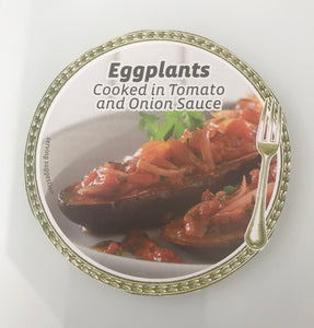 EGGPLANTS IN TOMATO & ONION SAUCE