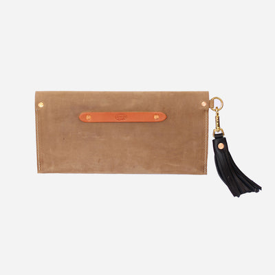 Copperdot Leather | Envelope Clutch Brown Oil