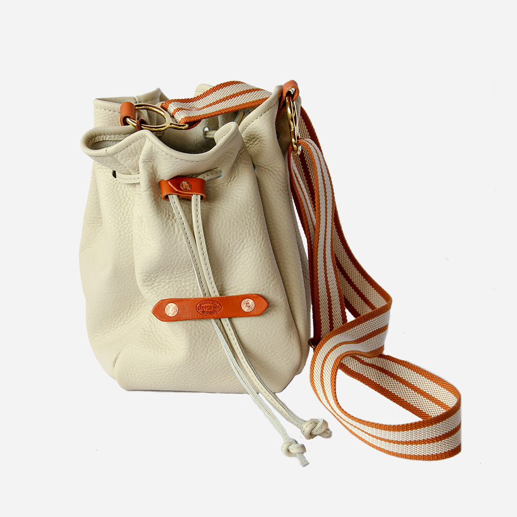 Copperdot Cream Bucket Bag