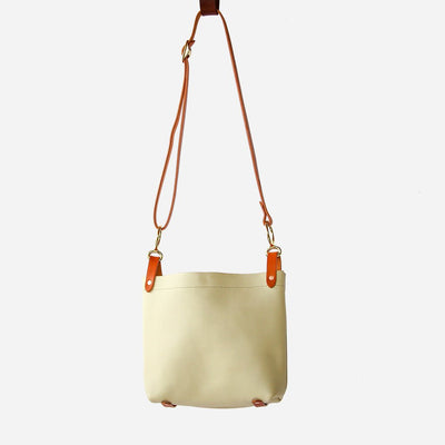 Cream & Black Hide Conway Crossbody Bag