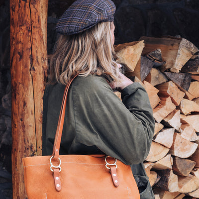 No. 2 Tote Copperdot Leather Goods Made in Jackson Hole, WY