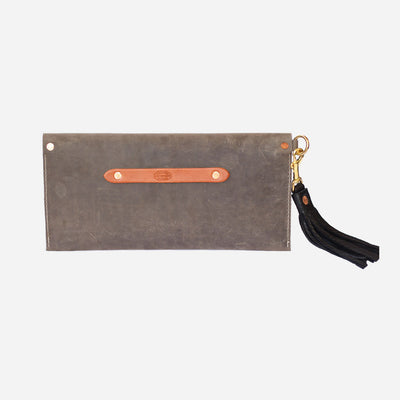 Copperdot Leather | Envelope Clutch Grey Oil