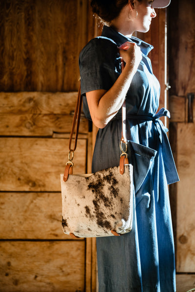 Walnut & Brown Hide Conway Crossbody Bag