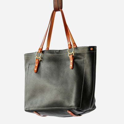Copperdot #2 Leather Bag Black Chap