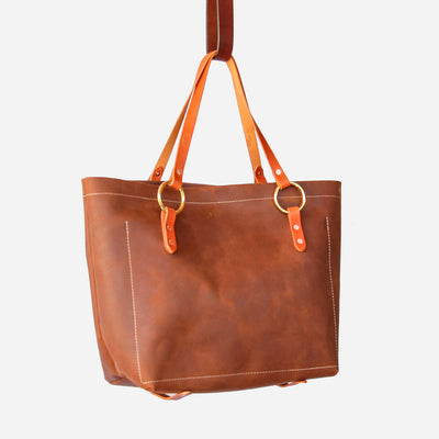 Copperdot #2 Leather Bag Brown Oil