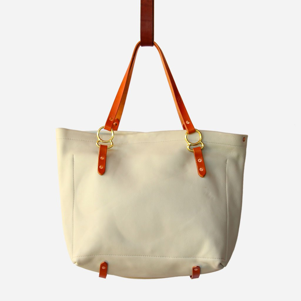 Copperdot #2 Leather Bag Cream