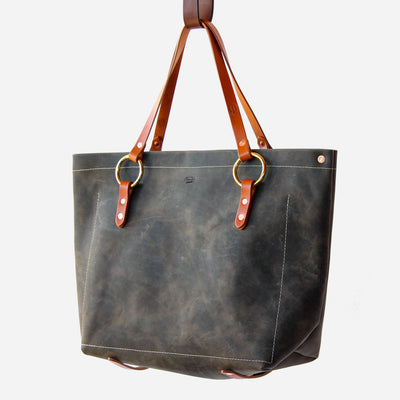 Copperdot #2 Leather Bag Grey Oil