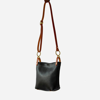 Copperdot Conway Shoulder Leather Bag Black
