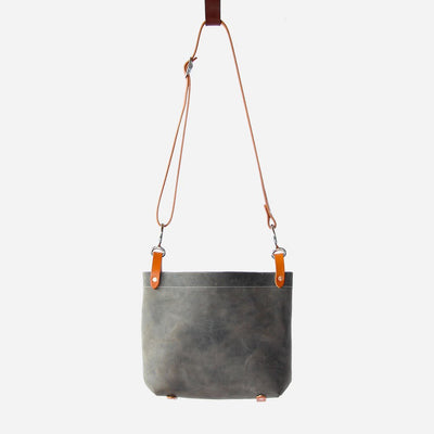 Copperdot Conway Leather Bag Grey Oil
